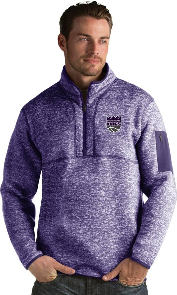 Antigua Men's Sacramento Kings Fortune Purple Half-Zip Pullover product image