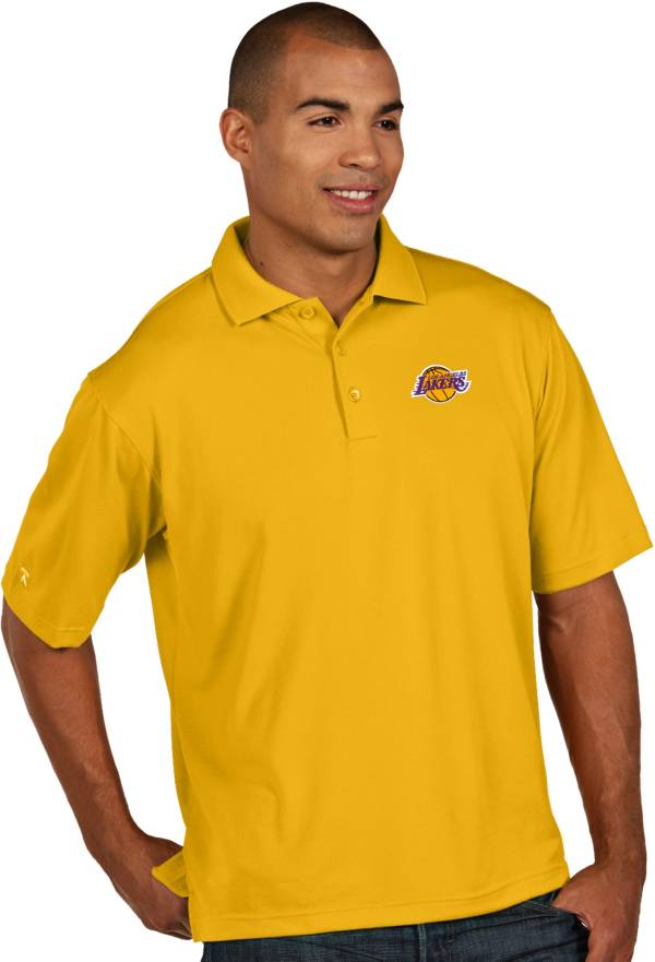 Antigua Men's Los Angeles Lakers Xtra-Lite Gold Pique Performance Polo product image