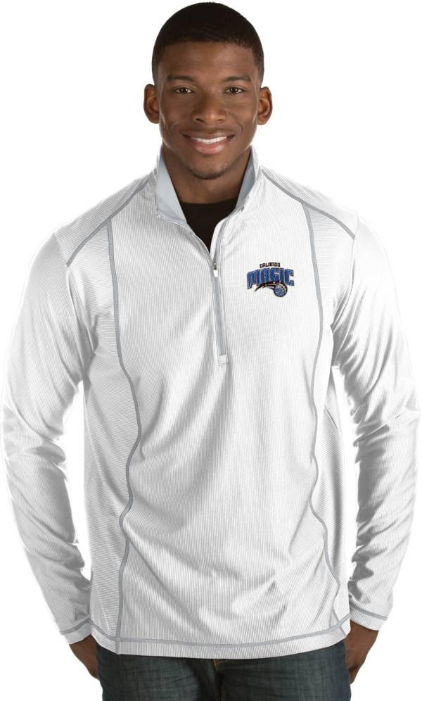 Antigua Men's Orlando Magic Tempo White Quarter-Zip Pullover product image