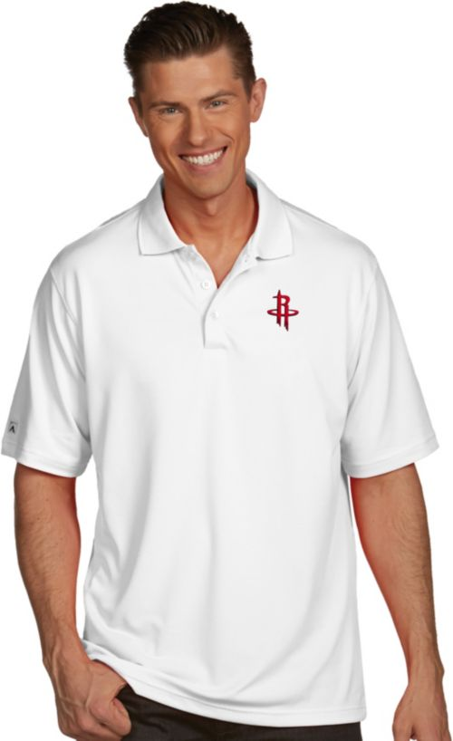 9cfe2854757f Antigua Men s Houston Rockets Xtra-Lite White Pique Performance Polo.  noImageFound. 1