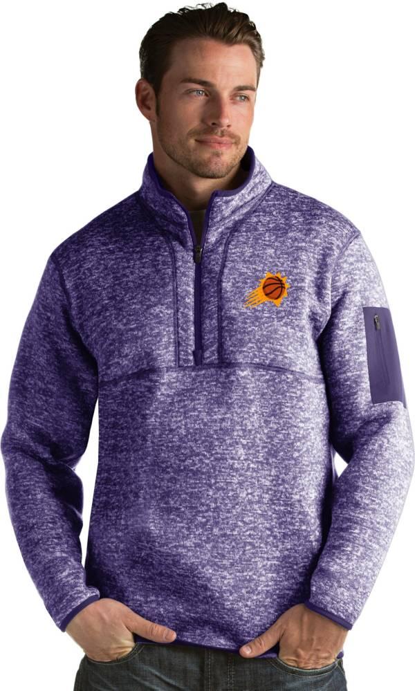 Antigua Men's Phoenix Suns Fortune Purple Half-Zip Pullover product image