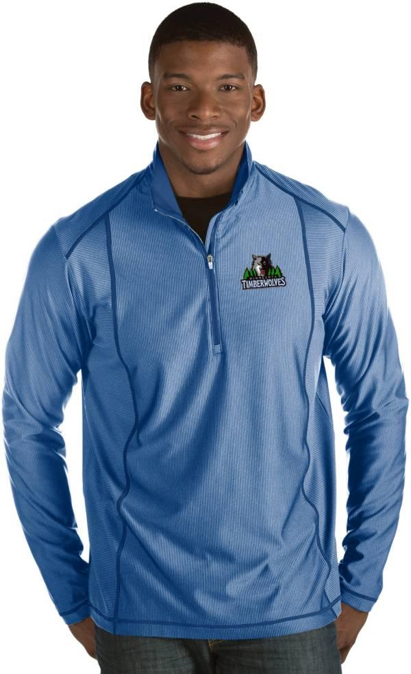 Antigua Men's Minnesota Timberwolves Tempo Royal Quarter-Zip Pullover product image