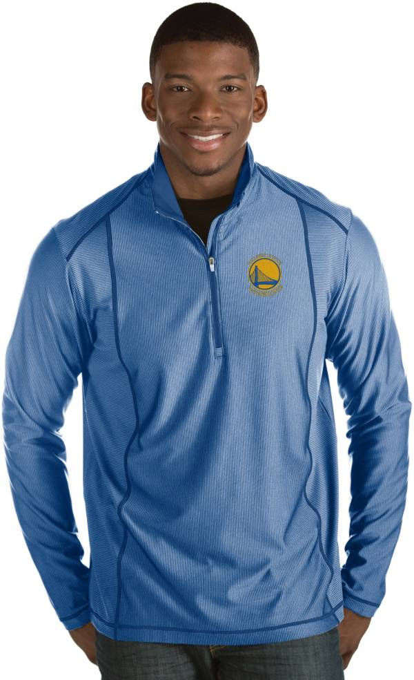 Antigua Men's Golden State Warriors Tempo Royal Quarter-Zip Pullover product image