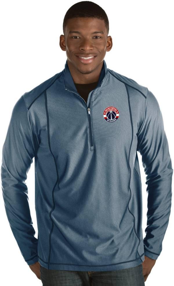 Antigua Men's Washington Wizards Tempo Navy Quarter-Zip Pullover product image