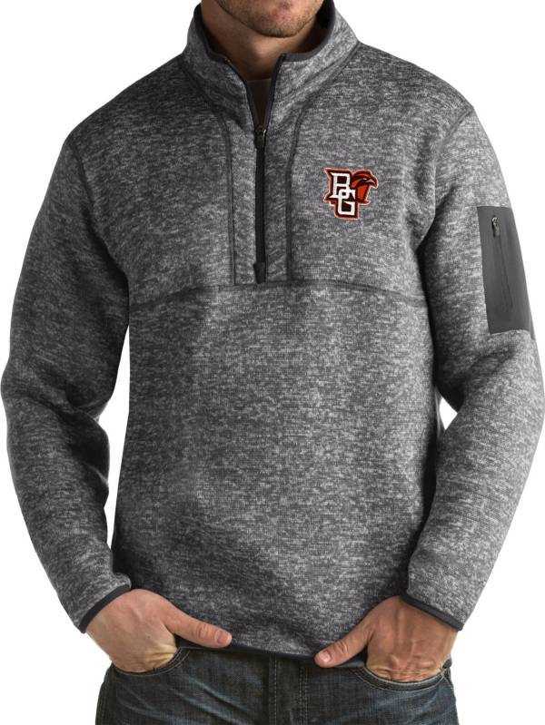 Antigua Men's Bowling Green Falcons Grey Fortune Pullover Jacket product image
