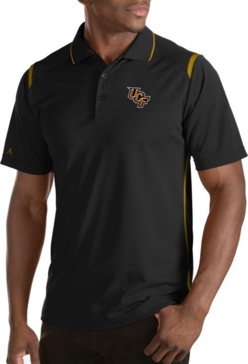 669c1c2b Antigua Men's UCF Knights Merit Xtra-Lite Black Polo | DICK'S ...