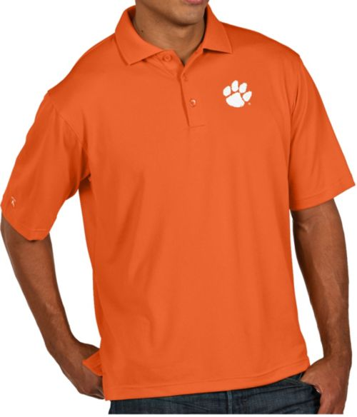 664fce0c911 Antigua Men's Clemson Tigers Orange Pique Xtra-Lite Polo. noImageFound. 1