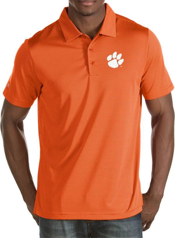Antigua Men's Clemson Tigers Orange Quest Polo product image