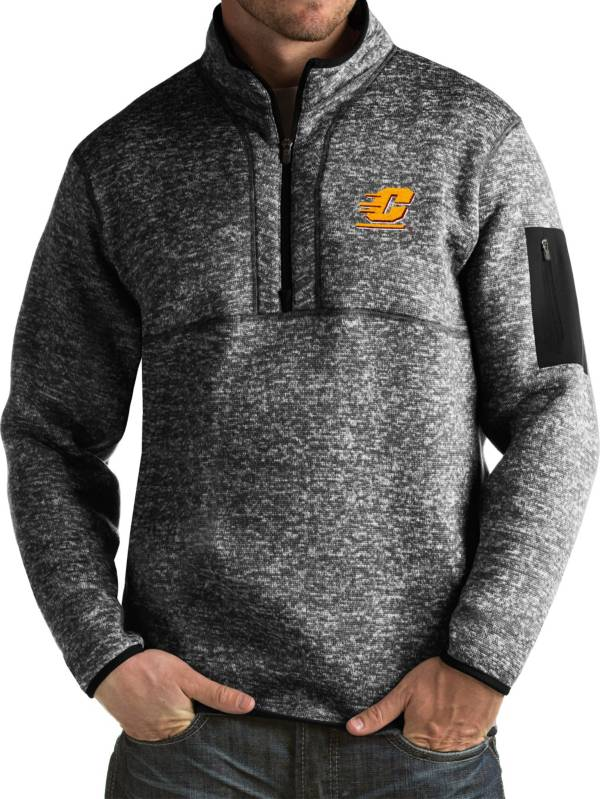 Antigua Men's Central Michigan Chippewas Black Fortune Pullover Jacket product image