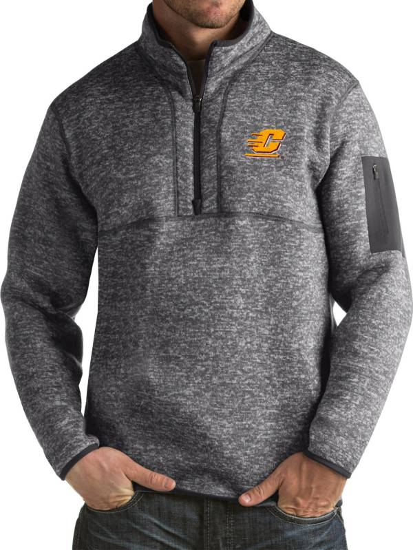 Antigua Men's Central Michigan Chippewas Grey Fortune Pullover Jacket product image