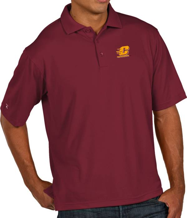 Antigua Men's Central Michigan Chippewas Maroon Pique Xtra-Lite Polo product image