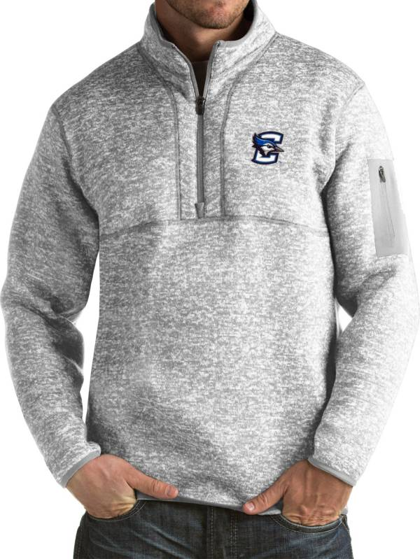 Antigua Men's Creighton Bluejays Grey Fortune Pullover Jacket product image