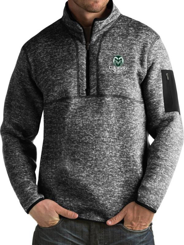 Antigua Men's Colorado State Rams Black Fortune Pullover Jacket product image