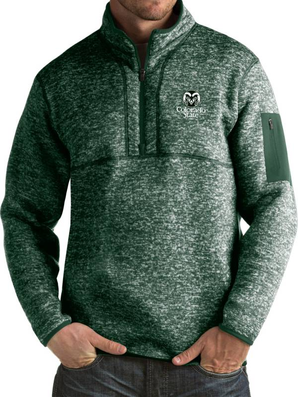 Antigua Men's Colorado State Rams Green Fortune Pullover Jacket product image