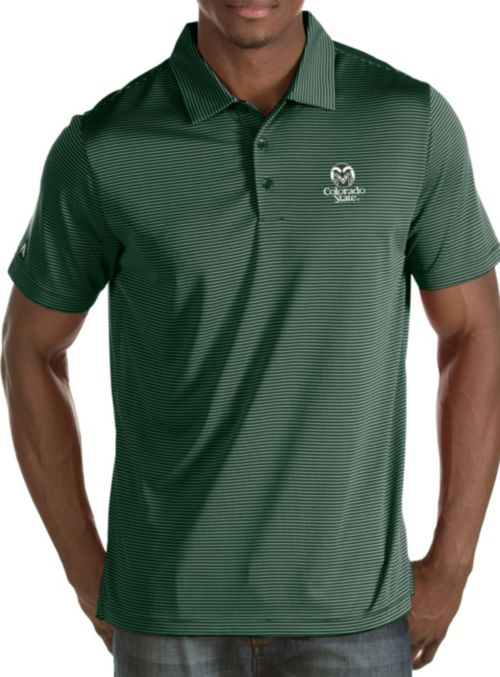 Antigua Men s Colorado State Rams Green Quest Polo. noImageFound. 1 84f2fee35