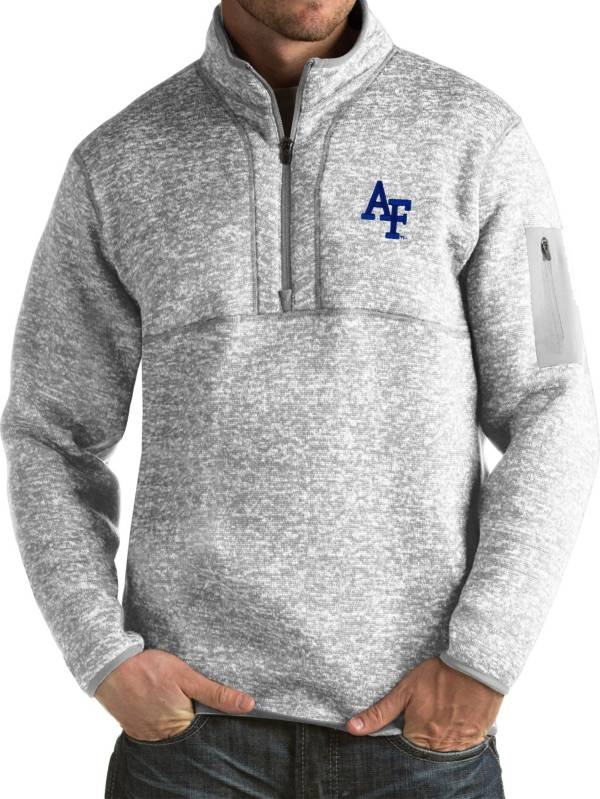 Antigua Men's Air Force Falcons Grey Fortune Pullover Jacket product image