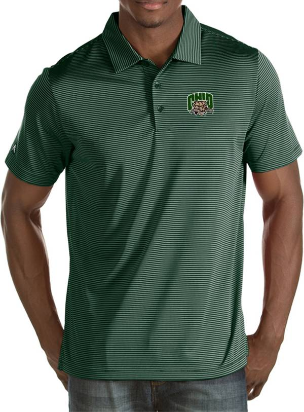 Antigua Men's Ohio Bobcats Green Quest Polo product image