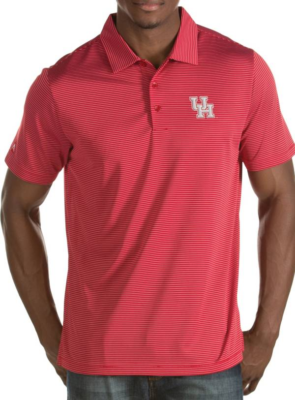 Antigua Men's Houston Cougars Red Quest Polo product image