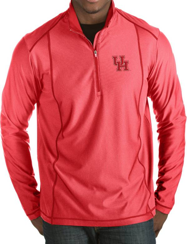 Antigua Men's Houston Cougars Red Tempo Half-Zip Pullover product image