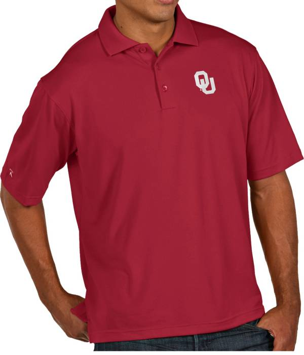 Antigua Men's Oklahoma Sooners Crimson Pique Xtra-Lite Polo product image