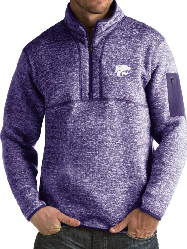 Antigua Men's Kansas State Wildcats Purple Fortune Pullover Jacket product image