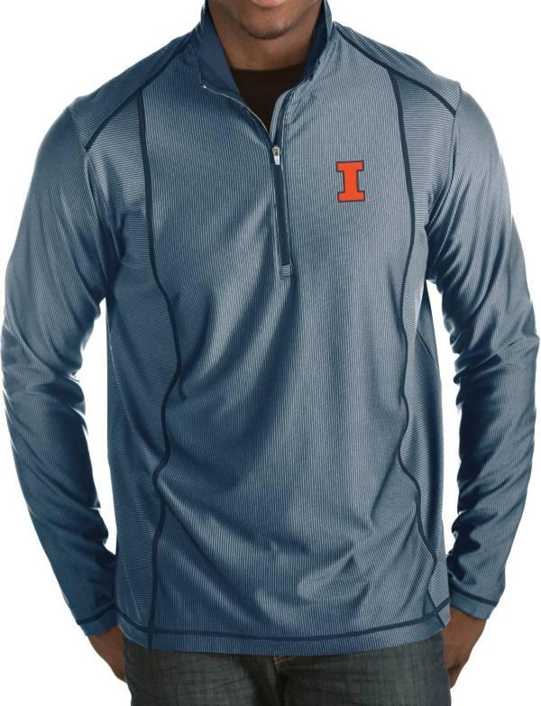 Antigua Men's Illinois Fighting Illini Blue Tempo Half-Zip Pullover product image