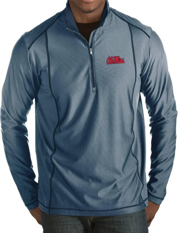 Antigua Men's Ole Miss Rebels Blue Tempo Half-Zip Pullover product image