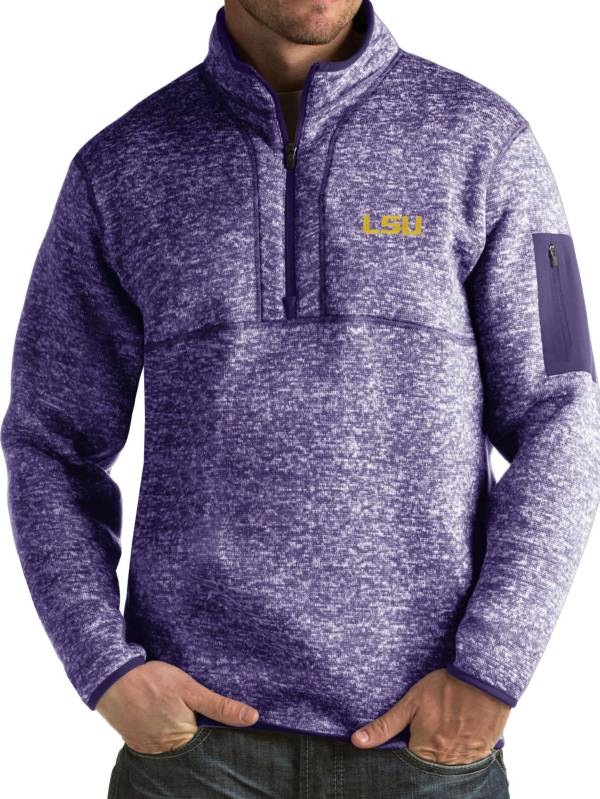 Antigua Men's LSU Tigers Purple Fortune Pullover Jacket product image