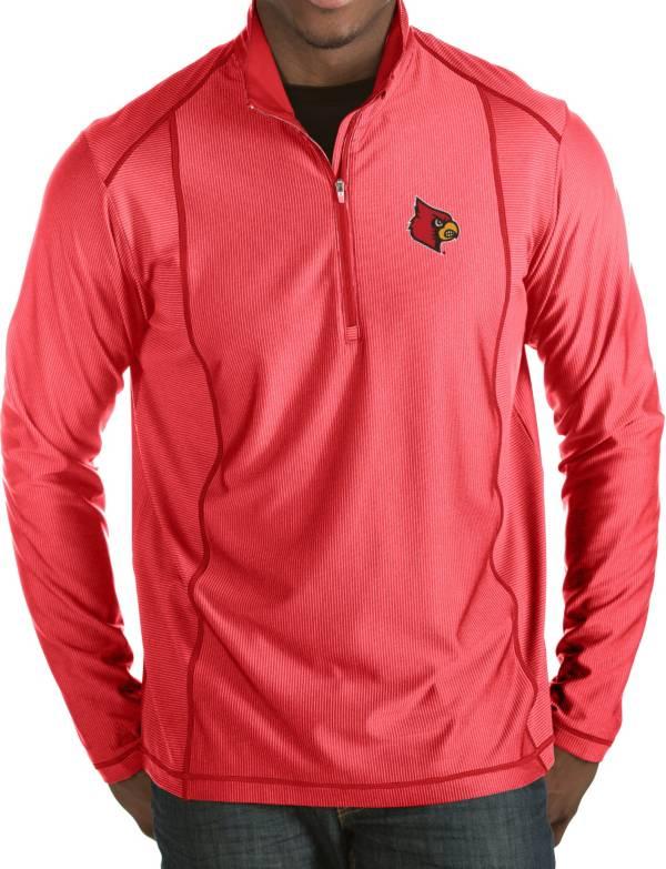 Antigua Men's Louisville Cardinals Cardinal Red Tempo Half-Zip Pullover product image