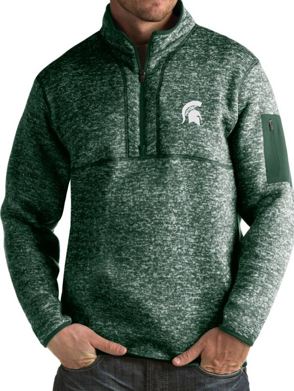 Antigua Men's Michigan State Spartans Green Fortune Pullover Jacket product image
