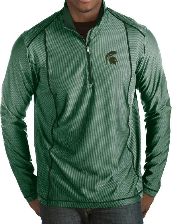Antigua Men's Michigan State Spartans Green Tempo Half-Zip Pullover product image