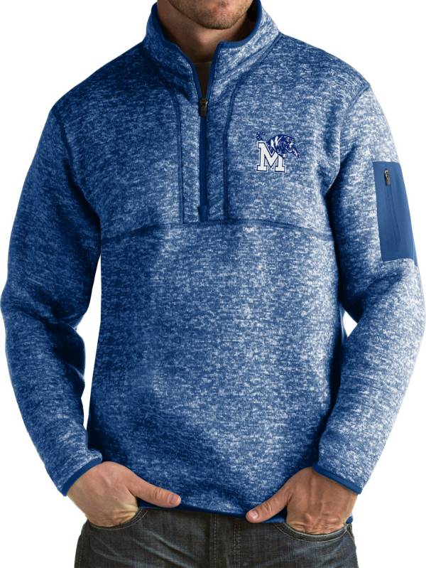 Antigua Men's Memphis Tigers Blue Fortune Pullover Jacket product image