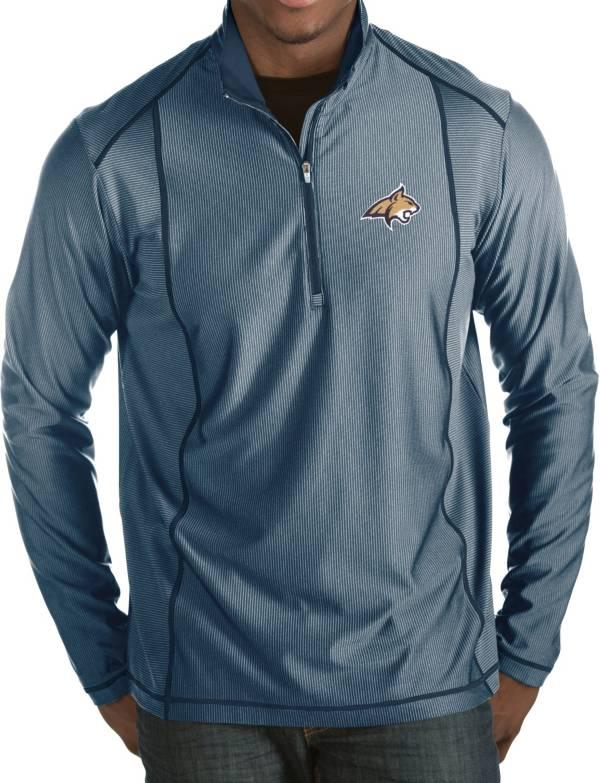 Antigua Men's Montana State Bobcats Blue Tempo Half-Zip Pullover product image