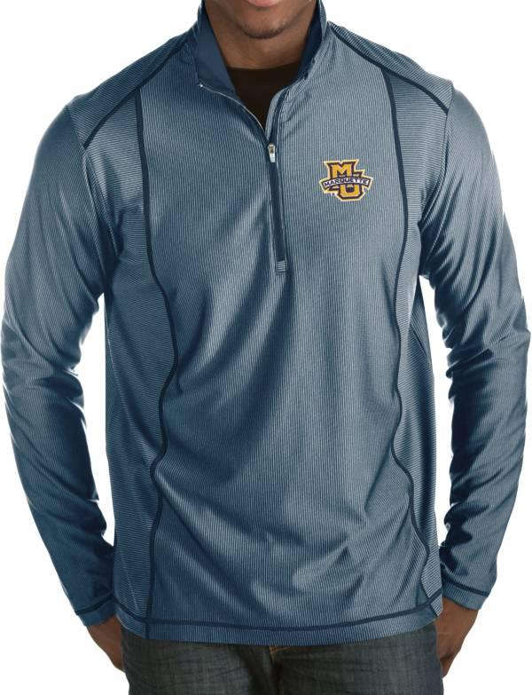 Antigua Men's Marquette Golden Eagles Blue Tempo Half-Zip Pullover product image