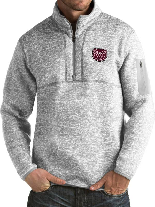 Antigua Men's Missouri State Bears Grey Fortune Pullover Jacket product image
