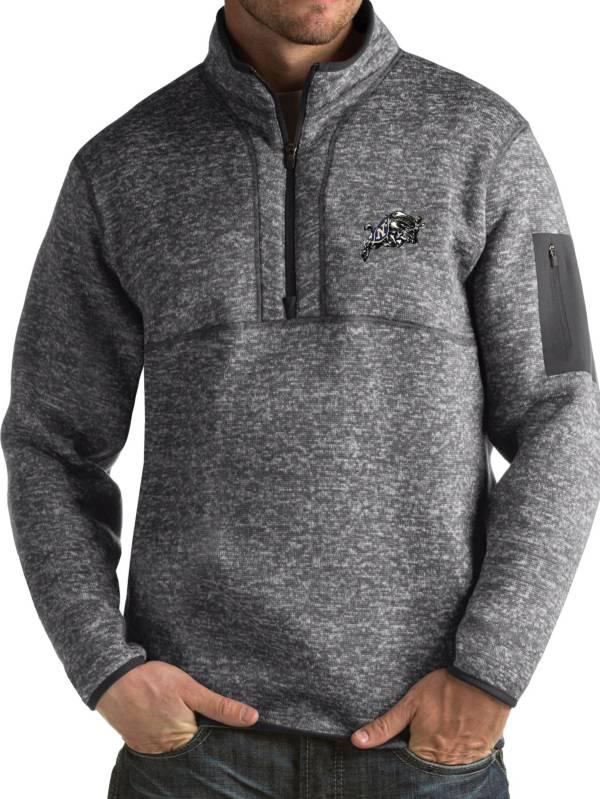 Antigua Men's Navy Midshipmen Grey Fortune Pullover Jacket product image