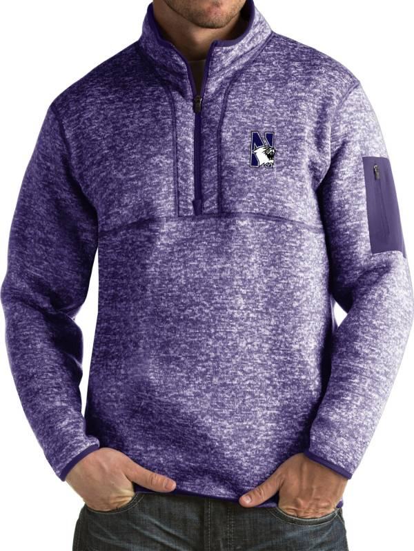 Antigua Men's Northwestern Wildcats Purple Fortune Pullover Jacket product image