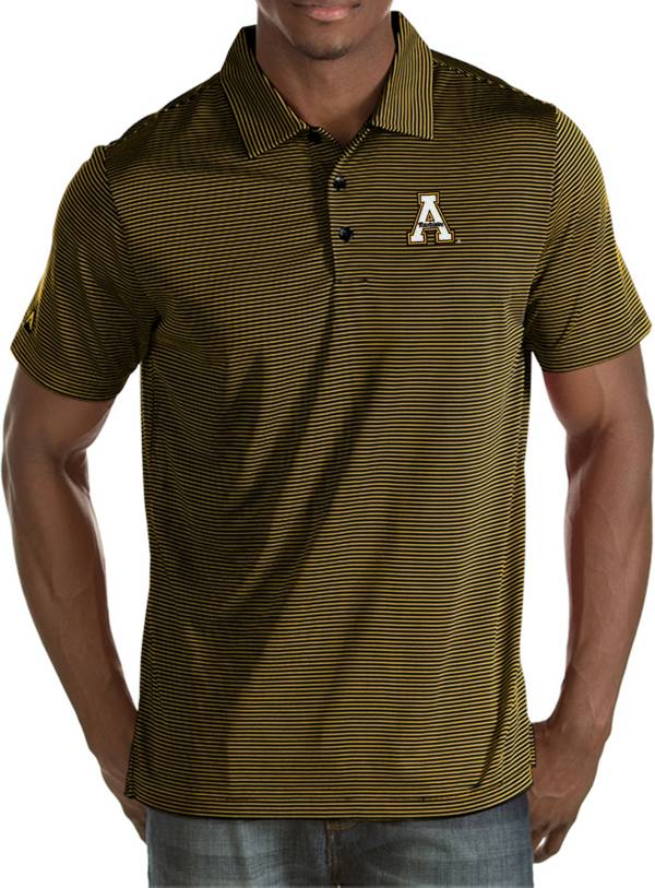 Antigua Men's Appalachian State Mountaineers Black Quest Polo product image