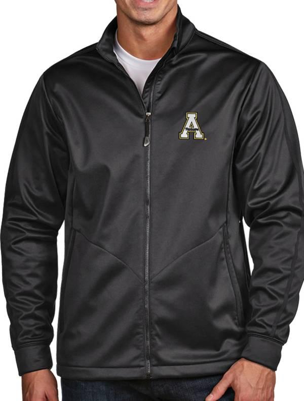 Antigua Men's Appalachian State Mountaineers Grey Full-Zip Golf Jacket product image