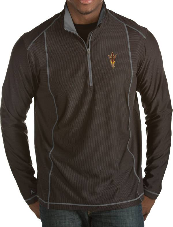 Antigua Men's Arizona State Sun Devils Black Tempo Half-Zip Pullover product image