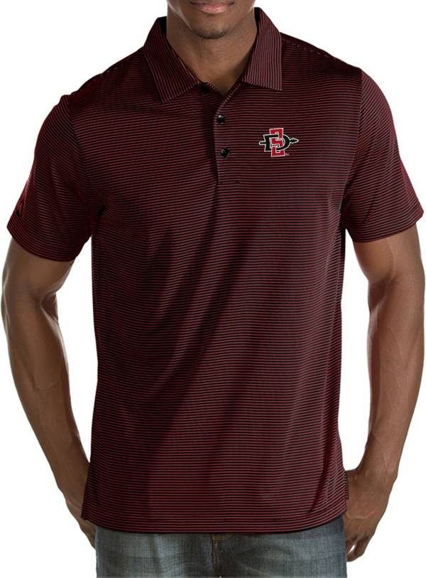 Antigua Men's San Diego State Aztecs Scarlet Quest Polo product image