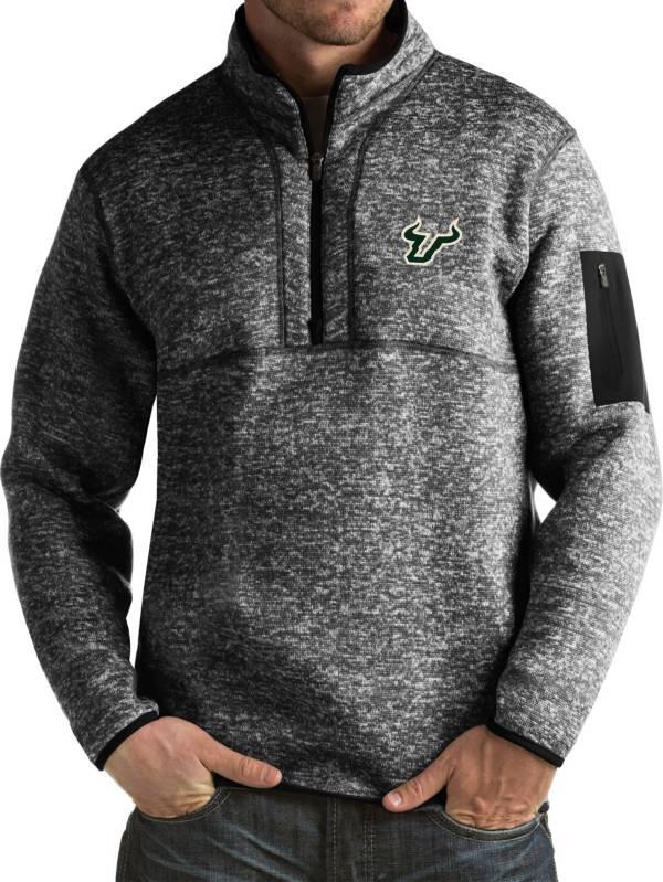 Antigua Men's South Florida Bulls Black Fortune Pullover Jacket product image