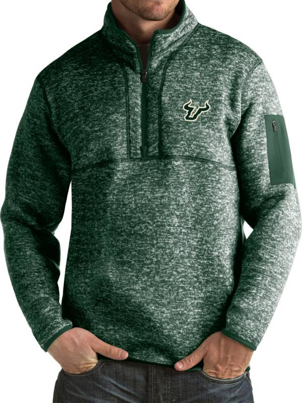 Antigua Men's South Florida Bulls Green Fortune Pullover Jacket product image