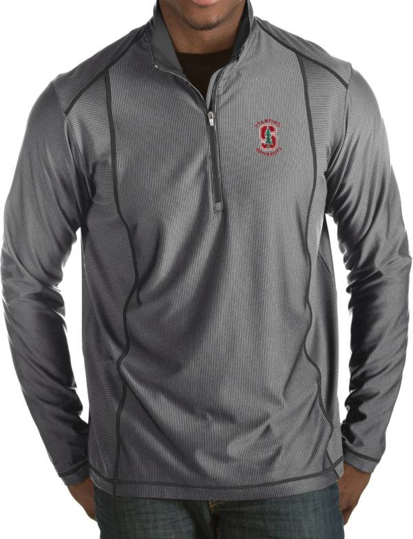 Antigua Men's Stanford Cardinal Grey Tempo Half-Zip Pullover product image