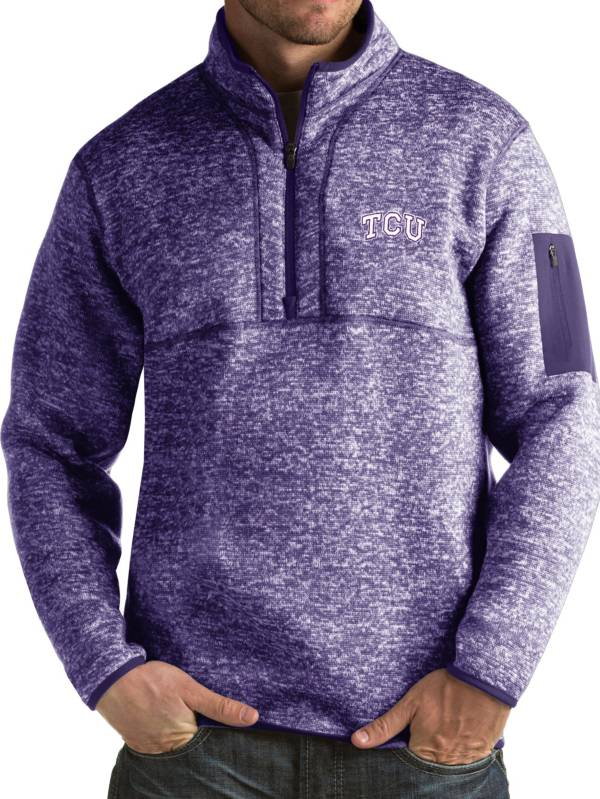 Antigua Men's TCU Horned Frogs Purple Fortune Pullover Jacket product image