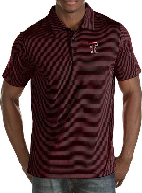 Antigua Men's Texas Tech Red Raiders Black Quest Polo product image