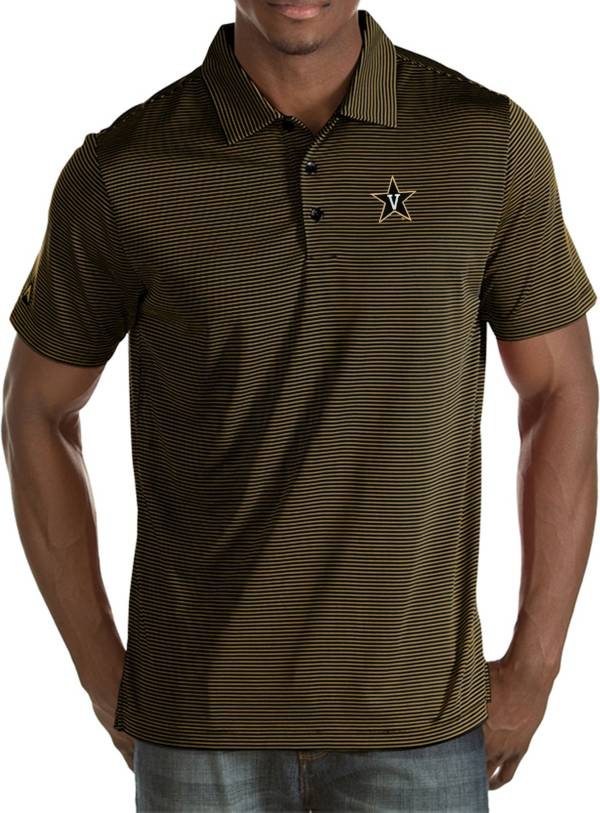 Antigua Men's Vanderbilt Commodores Black/Gold Quest Polo product image