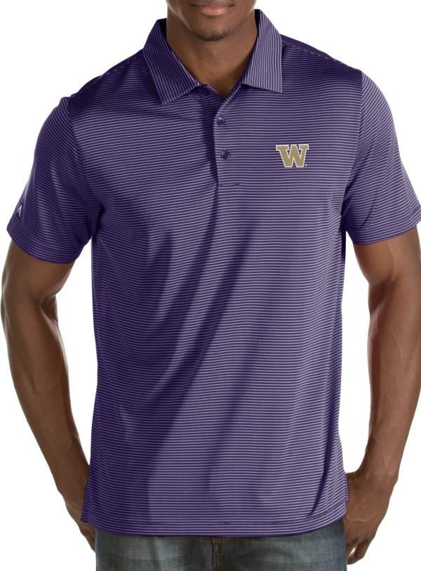 Antigua Men's Washington Huskies Purple Quest Polo product image