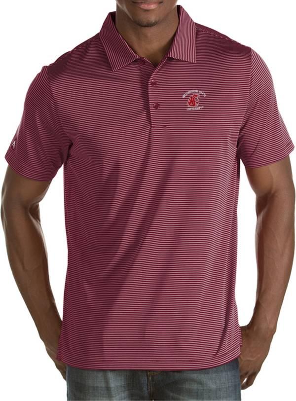 Antigua Men's Washington State Cougars Crimson Quest Polo product image