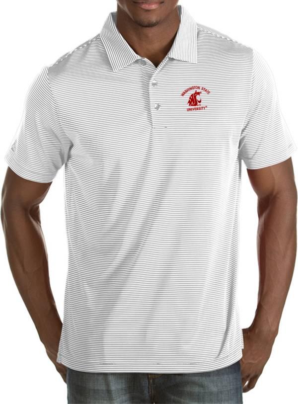 Antigua Men's Washington State Cougars White Quest Polo product image